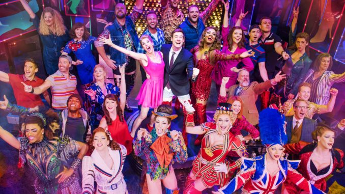 Kinky Boots London Broadway show cast posing for the audience
