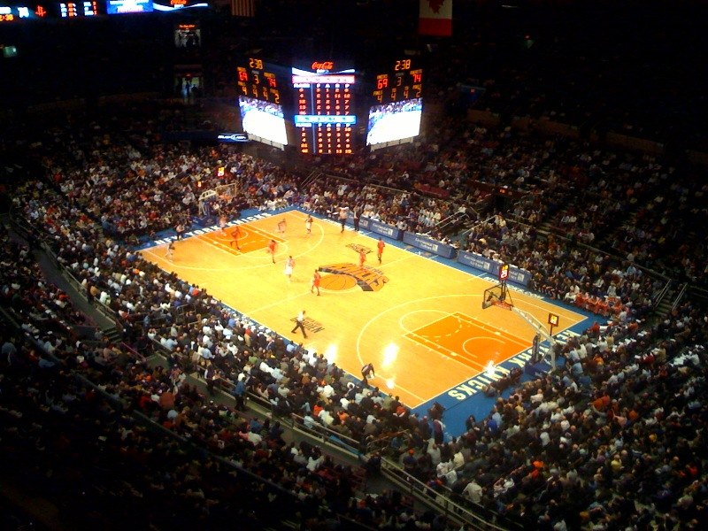 NYC basketball team the Knicks playing at Madison Square Garden