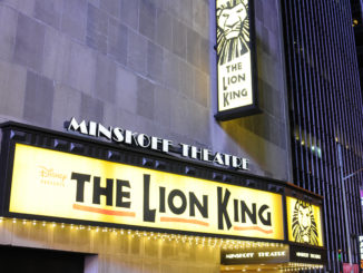 Lion King Broadway Sign, outside the Minskoff Theater