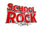 The School of Rock The Musical logo in red a white text