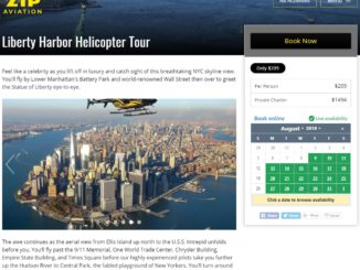 Zip Aviation Helicopter in New York Skyline