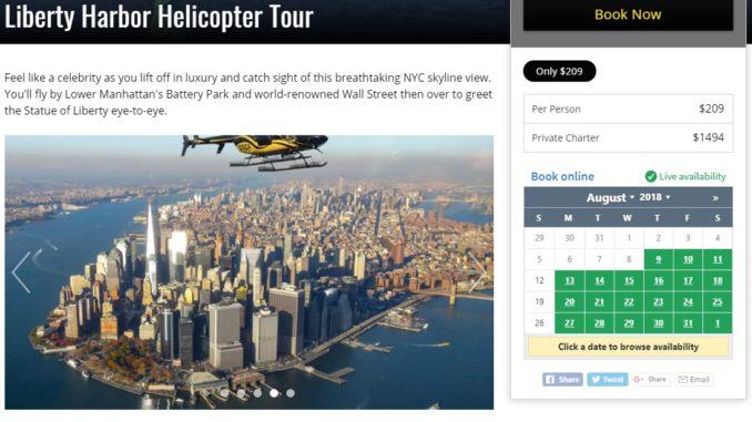 Zip Aviation Helicopter in New York Skyline