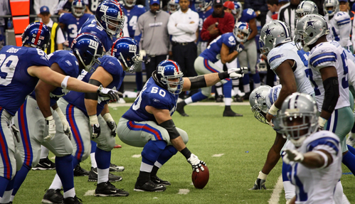 New York Giants making a play mid-game