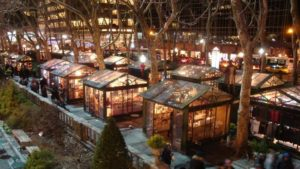 Winter Village in Bryant Park in New York City