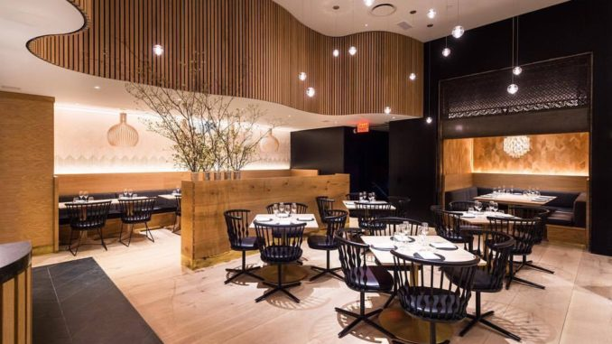 Upscale and trendy interior of Agern Restaurant New York