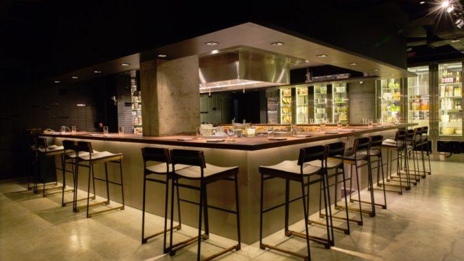 Interior of Momofuku Ko Restaurant New York