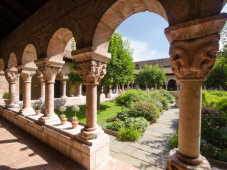 Courtyard view of the Cloisters Museum in New York