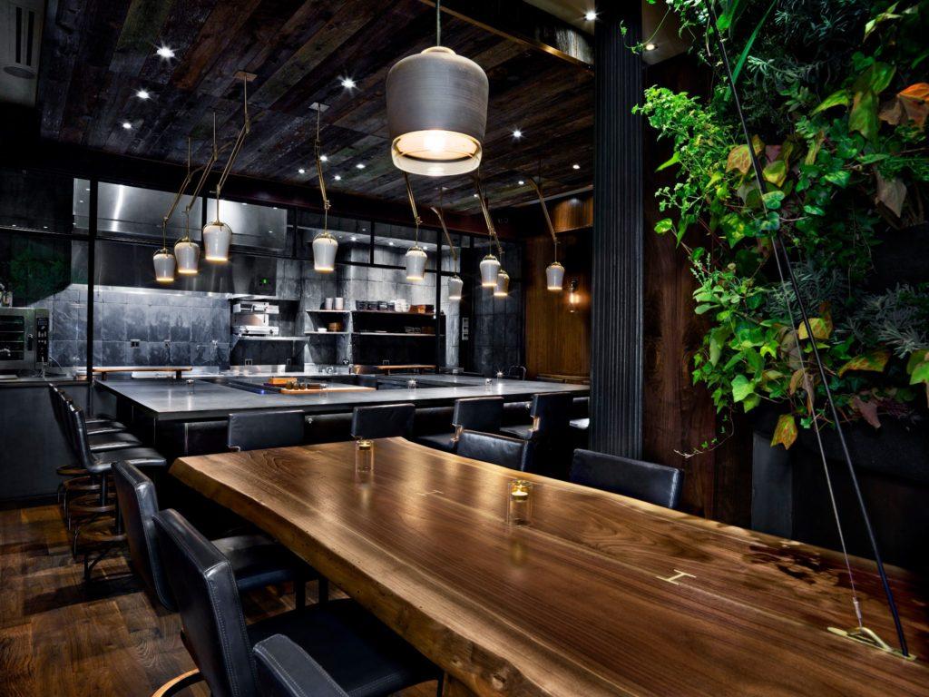 Inside the elegantly designed Atera Restaurant New York
