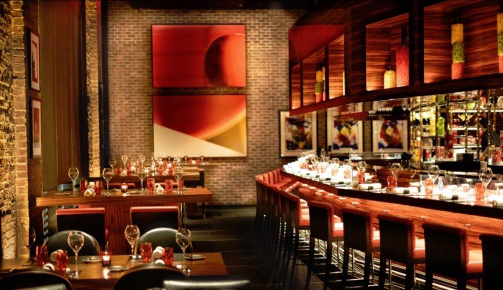 Inside L'Atelier de Joel Robuchon Restaurant New York