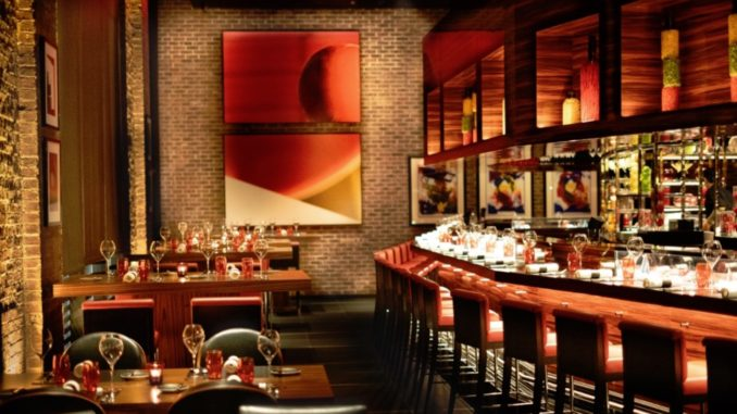 Inside L'Atelier de Joel Robuchon Restaurant New York