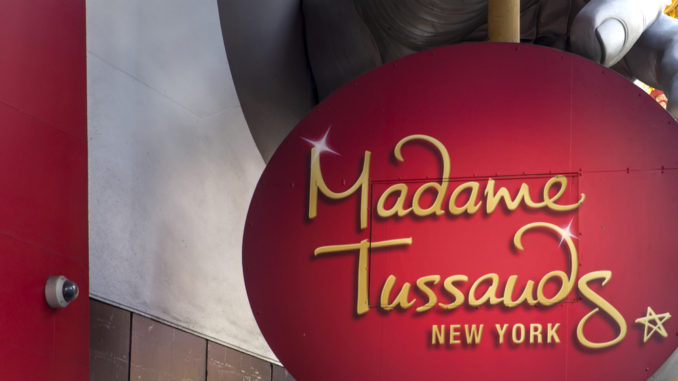 The famous Madame Tussauds New York sign