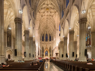 beautiful Interior of Saint Patrick's Cathedral in New York City