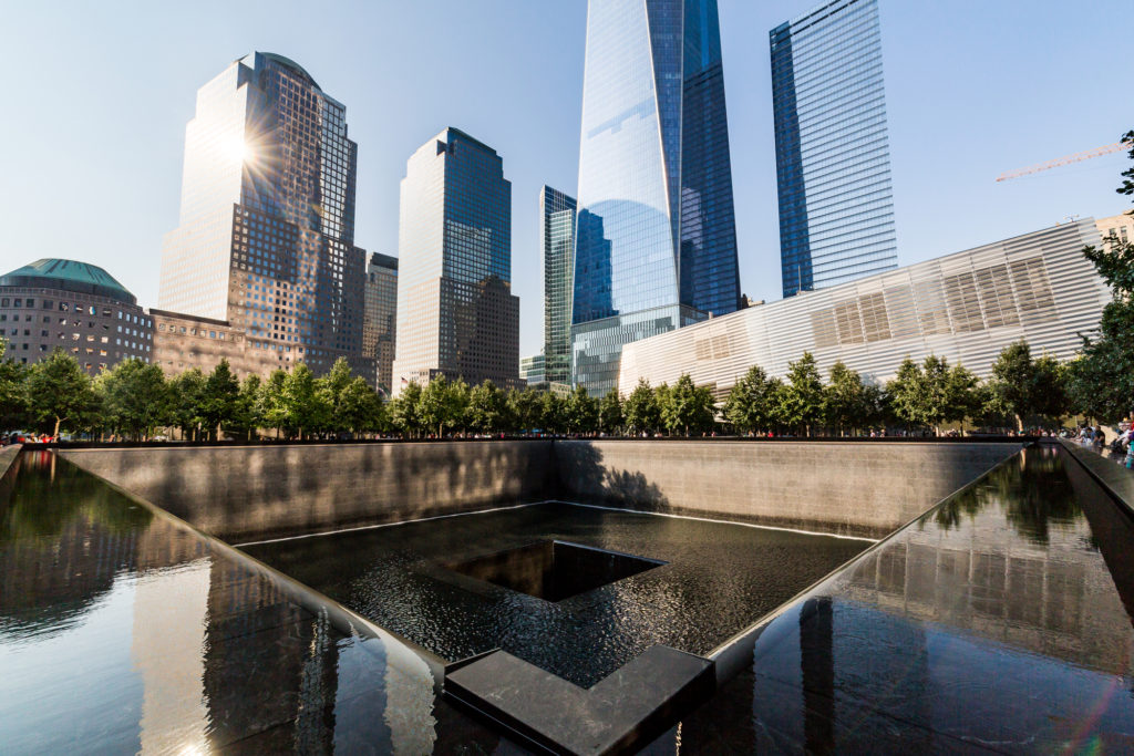 The 9/11 memorial which attracts many people looking to pay their respects to the vicitms