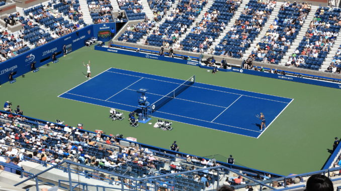 tennis US Open at Flushing Meadows in Queens, New York - New York in August 2019An overhead shot of the