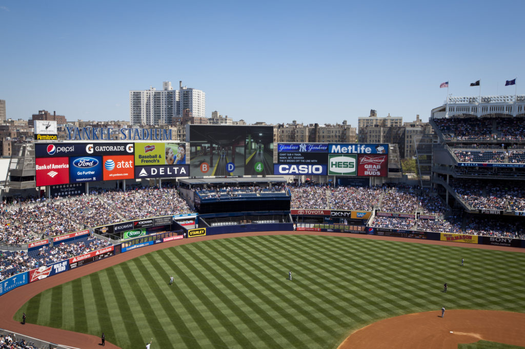 aerial shot of Yankee Stadium, home of New York Yankees