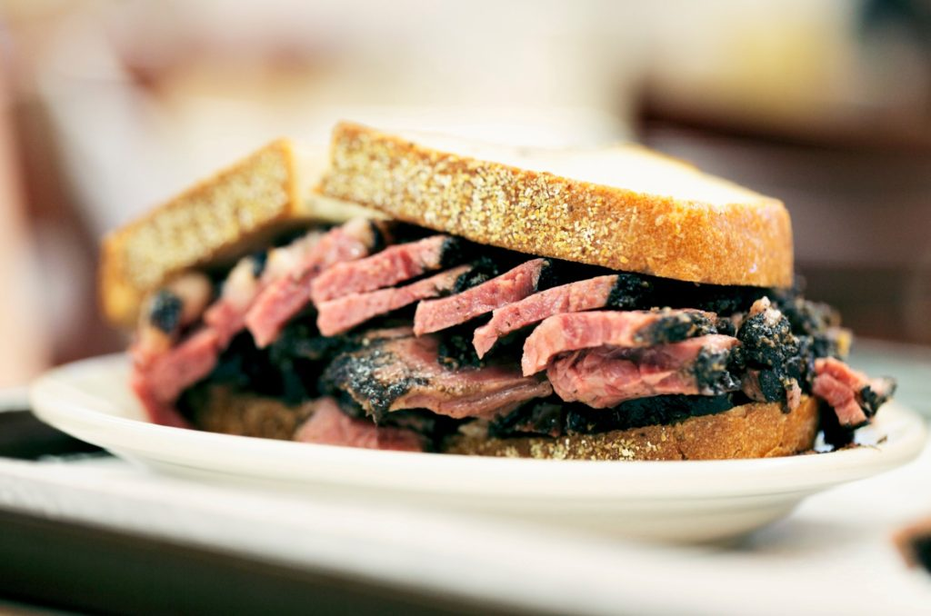 pastrami meat on rye bread - things to eat in new york